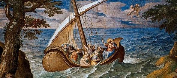Miracles - Tempest Calmed by Niccolò Circignani [Public domain], via Wikimedia Commons